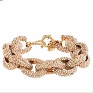 J Crew Pave bracelet. Gold. Oval style.